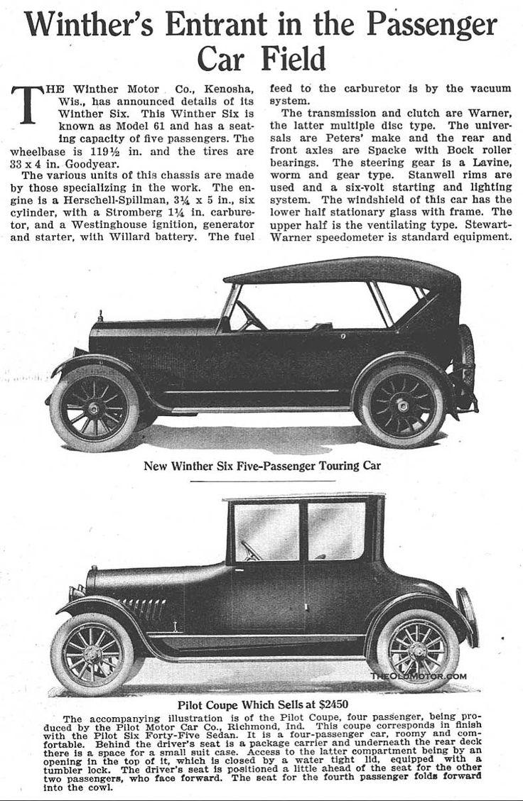1921 winther sport touring car