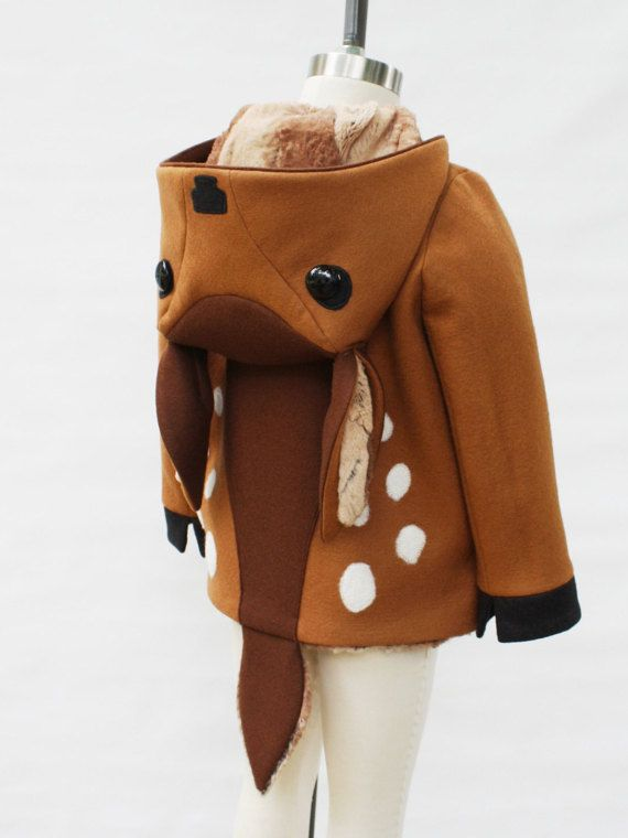 Fawn Coat Boy's Outerwear Deer Jacket Handmade от littlegoodall