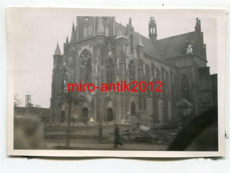 Foto, Wehrmacht, zerstörte Kirche in Warschau, Polen   eBay