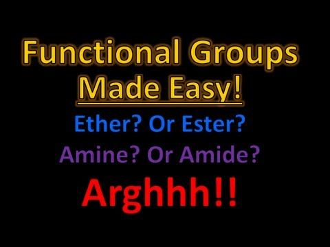 9 best sciences images on pinterest school gym and life science organic chemistry functional groups made easy and memorizable this video is long but is fandeluxe