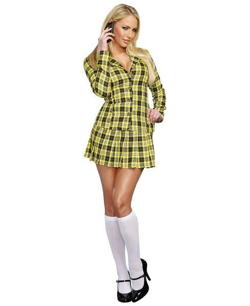 Fancy Girl Costume - includes black and yellow plaid jacket and skirt. Cher from Clueless or Iggy Azalea.