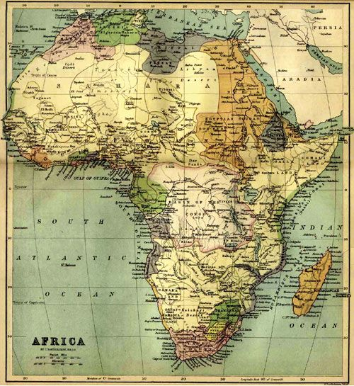 Old Map of Africa #antique #maps #Africa