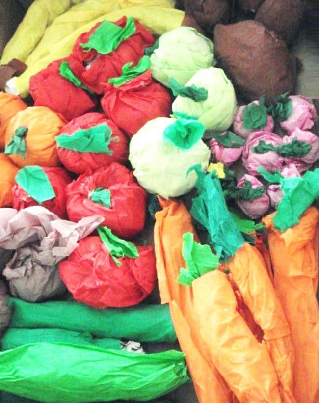 Grapon Kağıdında Meyve Yapımı Young Learners Olivers Vegetables