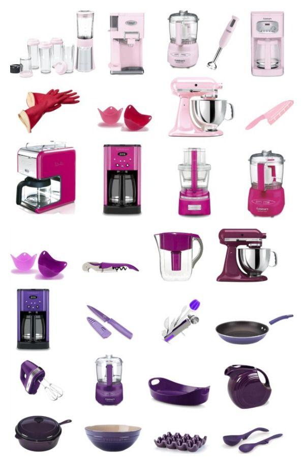 Brighten Your Kitchen Pink Purple Kitchen Tools