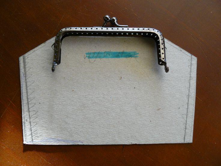 Patrón bolso boquilla cuadrada vintage