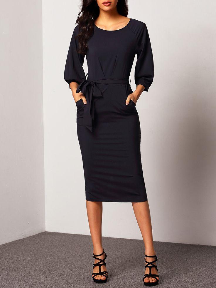 Shop Puff Sleeve Dress With Belt online. SheIn offers Puff Sleeve Dress With Belt & more to fit your fashionable needs.