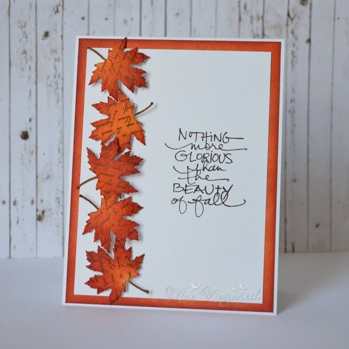 Thanksgiving Card Making Ideas Part - 28: Inku0027d Paper By Mae: CardMaker Blog And Poppy Stamps Bloghop. Handmade  Thanksgiving CardsDistress ...