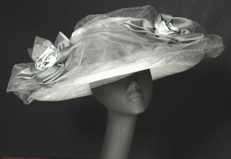 """""""Lola"""" silver dupioni silk mother of the bride/groom hat at  http://www.maggiemae.com"""