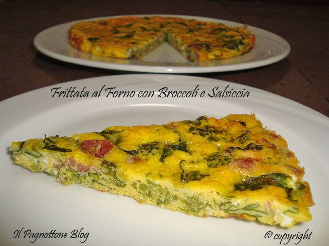 Frittata al Forno con Broccoli e Salsiccia