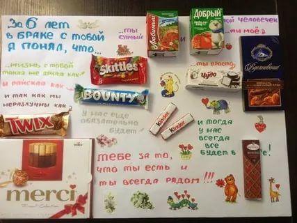 сладкий подарок на день рождения своими руками: 16 тыс изображений найдено в Яндекс.Картинках