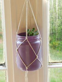 Samantha Wood: DIY Knotted Plant Holder