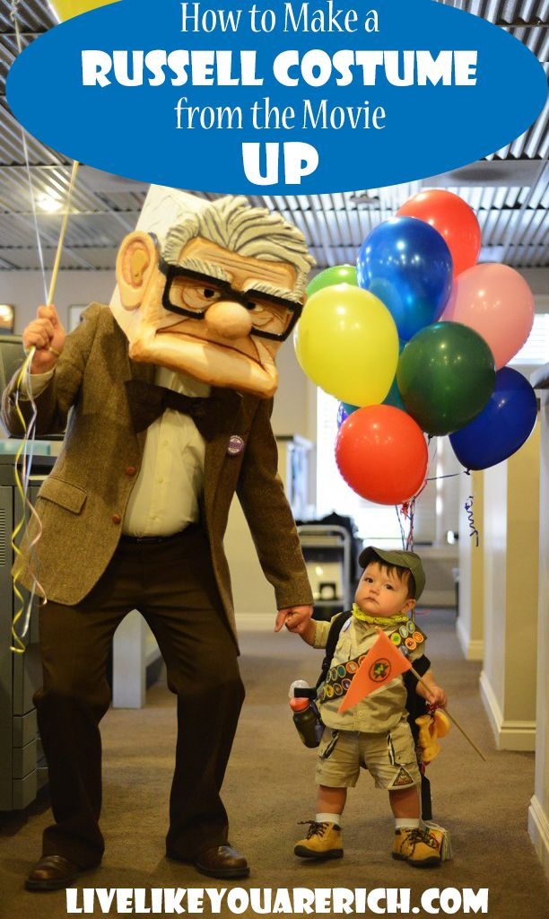 How to Make a Russell Costume from the Movie UP- Easy step-by-step instructions. Making it is much less expensive than buying!