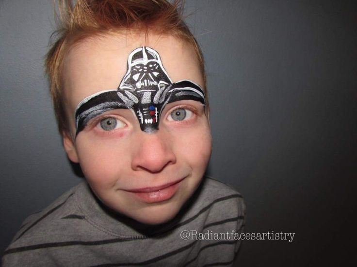 Darth Vadar face paint by radiant faces artistry. Star Wars face paint. Darth Vadar. Face painting