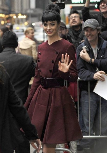 "As GFY's Heather wrote about Krysten Ritter's coat: ""I LOVE this coat. It might be a coat-dress, or a coat she's just belted into a dress, OR a coat she's just belted for kicks. Whatever it is, it will star in my dreams."""
