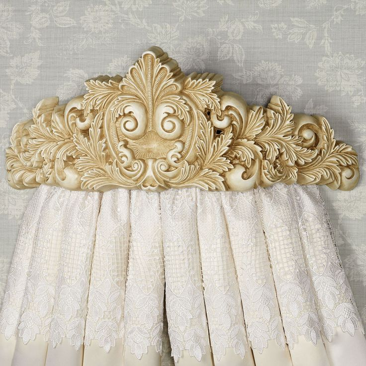 Natasha Antique Ivory Wall Teester Bed Crown