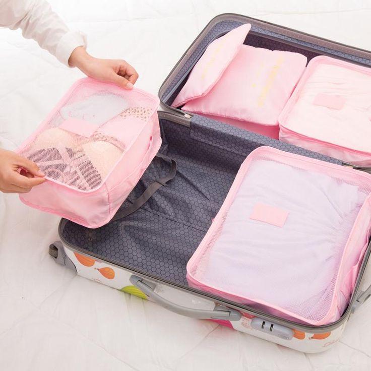 6 pcs/set unisex Luggage Travel Bags Waterproof Polyester Bag – Mitilen