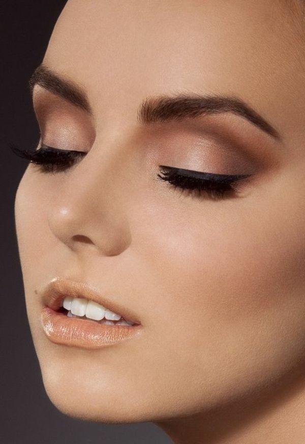 augen make up dezent helle lippen