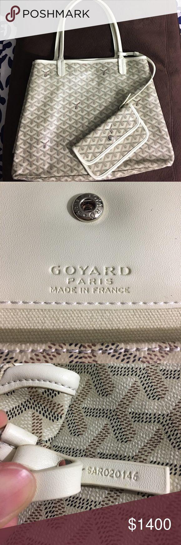 Goyard Tote Slightly use authentic Goyard Tote bag GM. No flaws, just a little dirty inside. Goyard Bags