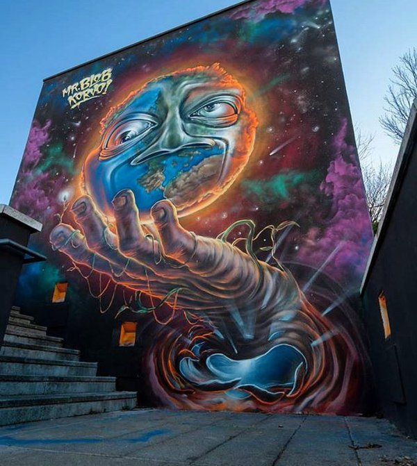 Streetart: new piece by Mr Blob in Milan