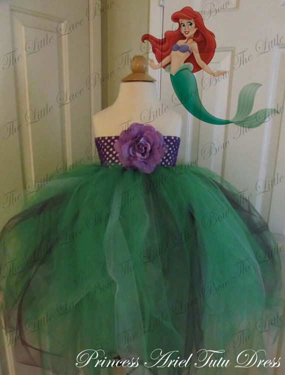 Princess Ariel Tutu Dress by TheLittleLaceBow on Etsy, $35.00