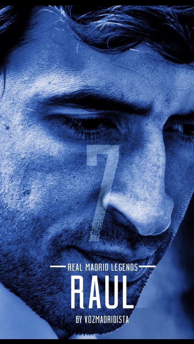 Real Madrid Legends - Raúl (Iphone Wallpaper Format)