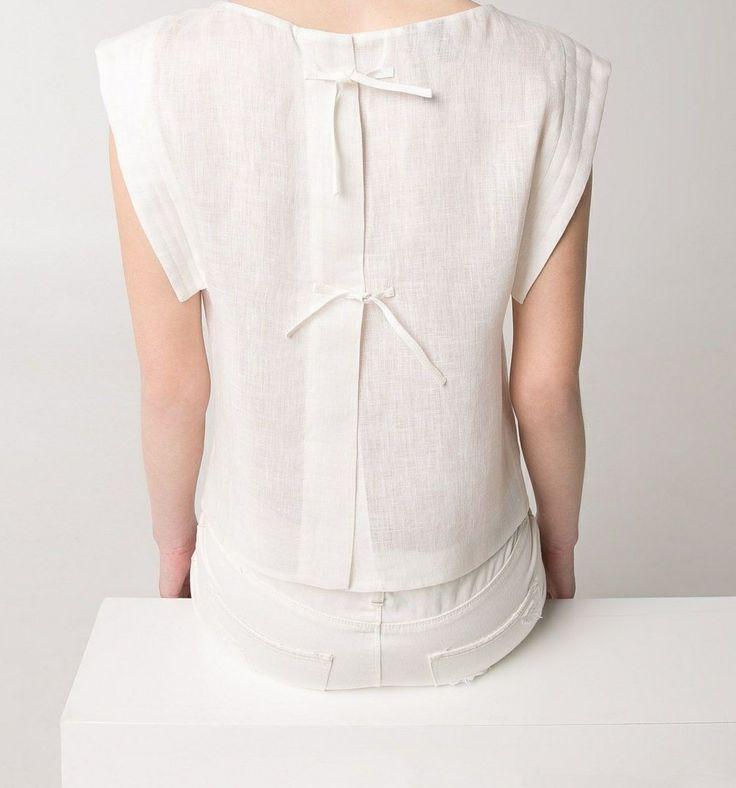 Minimal + Classic: linen tie-back top / mango