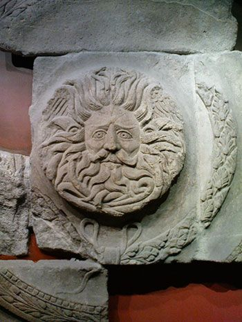 Bath Roman Baths -- Gorgon head