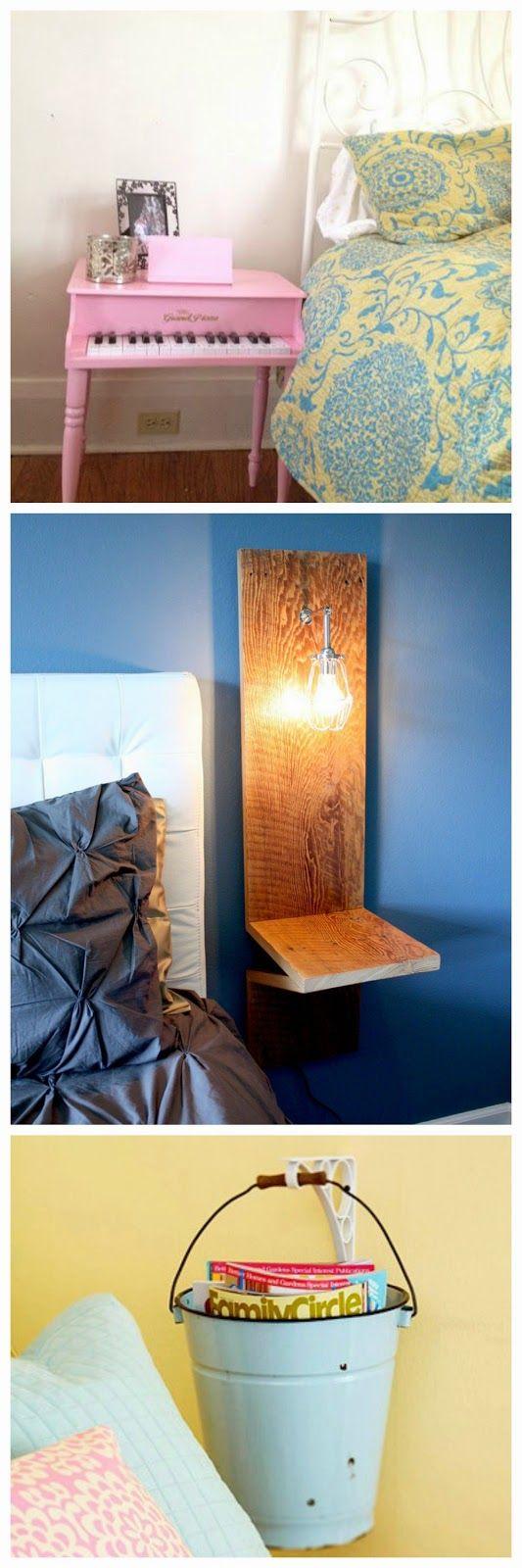 Mesas de cabeceira criativas e estilosas - Mão na Casa