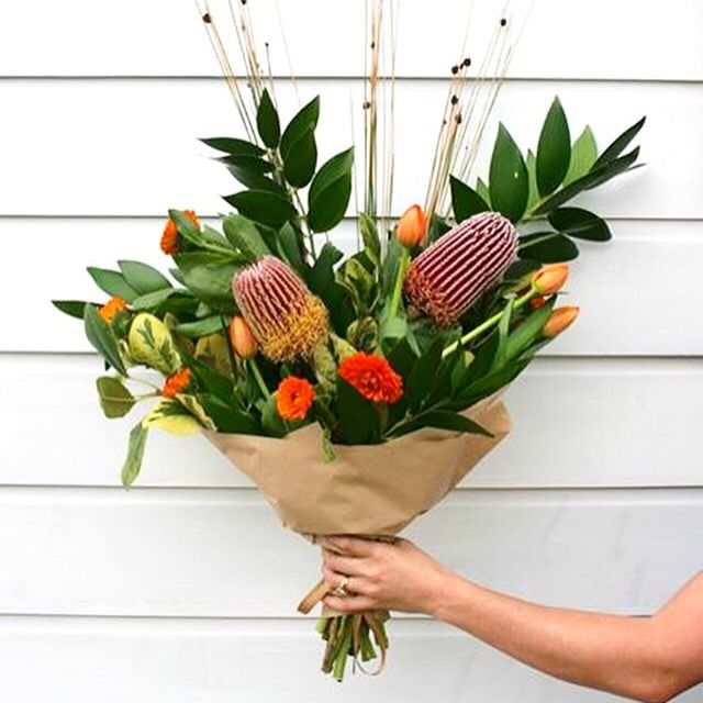 Green and orange, so fresh. Bouquet of the day. Bloom Tribe