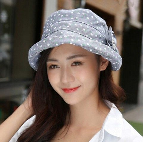 Floral flower bucket hat for women outdoor leisure sun hats