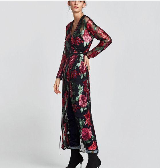 Vestido largo zara 2017