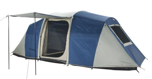 OZTRAIL SEASCAPE 3 ROOM (8 PERSON) FAMILY DOME CAMPING TENT