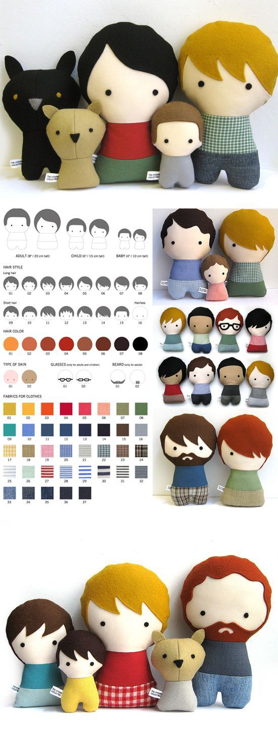 Citizens Collectible Dolls patterns Make felt family members