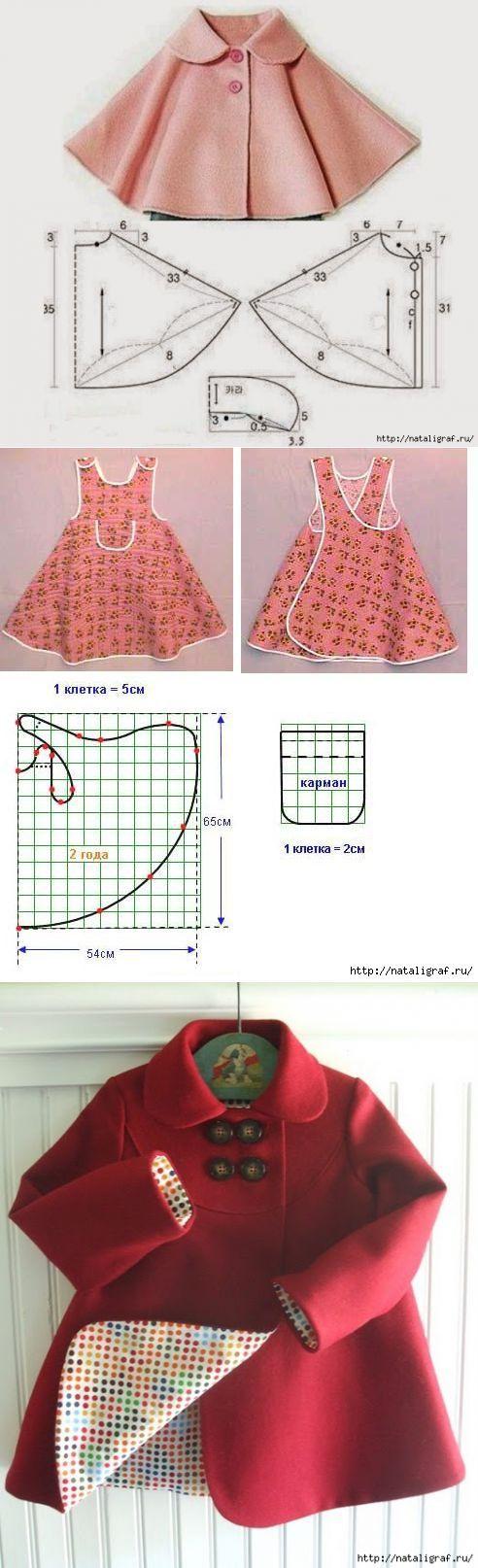 La ropa infantil con los patrones