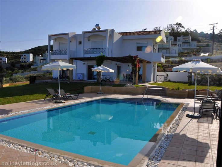 4 bedroom villa in Rhodes to rent from £500 pw, with a private pool. Also with balcony/terrace, air con and DVD.