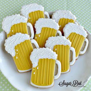 Sugar Dot Cookies: Beer Mug and Crab Sugar Cookies