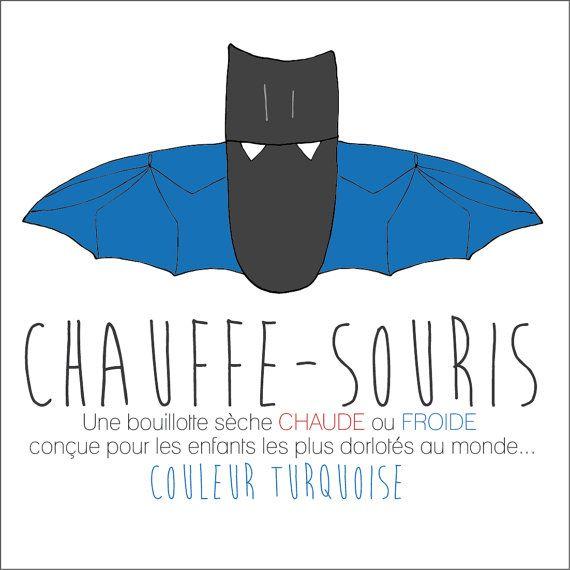 Chauffe-Souris TURQUOISE Bouillotte sèche conçue par FAscinante