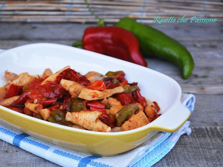 Pollo con Peperoni con Salsa di soia