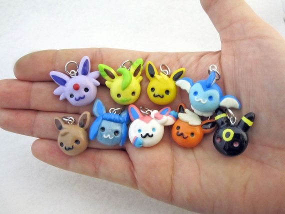 Choose Your Own Eevee Evolution Pokemon Charm by egyptianruin