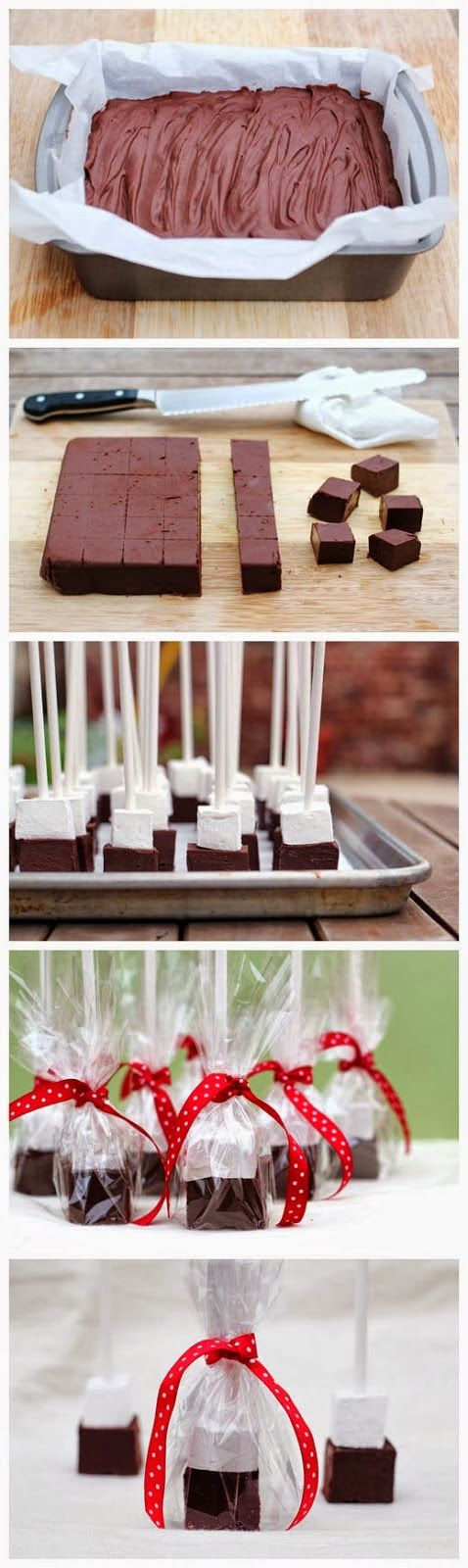 Fudge on a stick? Swirl these blocks into a mug of hot milk and enjoy luscious hot chocolate.
