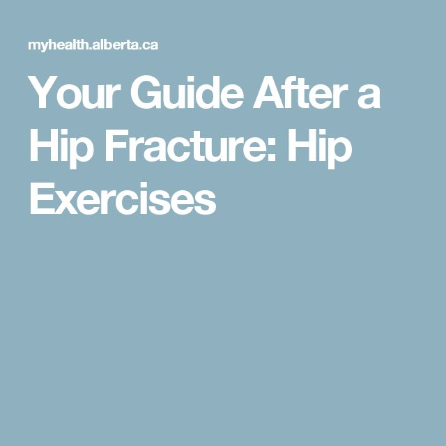 Your Guide After a Hip Fracture: Hip Exercises