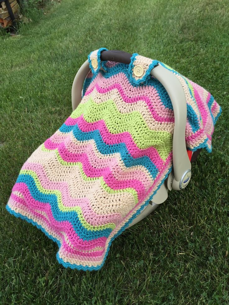 Skein and Hook: Free Crochet Pattern: Emerson Car Seat Cover or Baby Blanket