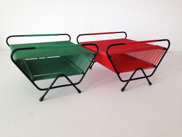 Range-disques scoubidous vert | love vintage
