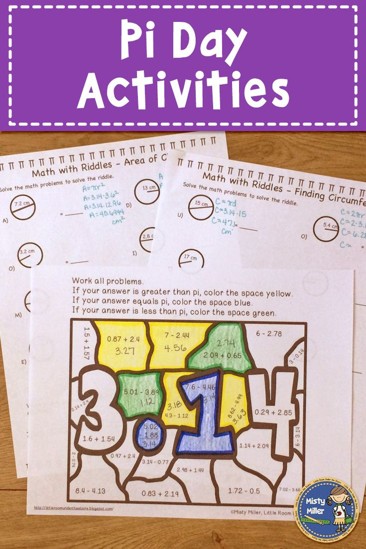 Let Your Students Celebrate Pi Day This Pi Day Packet Includes 3 Activities Math With Riddles Area Of A Circle M Creative Math Math Riddles Math Challenge [ 1102 x 735 Pixel ]
