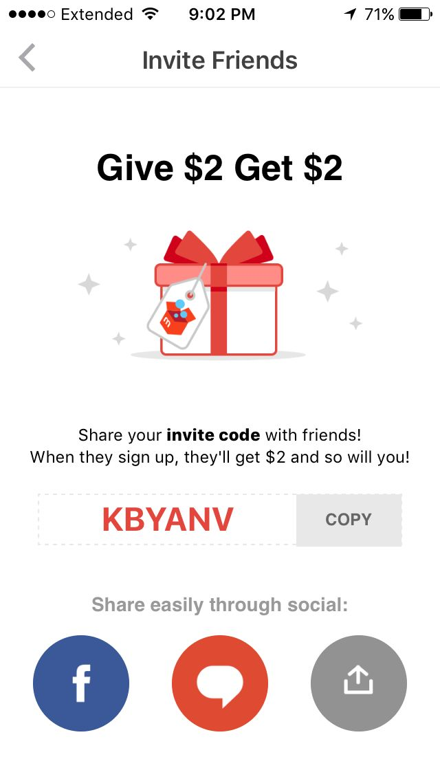 Mercari! Get $2 credit using the code in the picture!