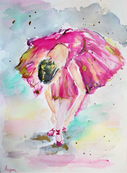 Buy Pink Ballerina 1, Watercolor by Antigoni Tziora on Artfinder. Discover thousands of other original paintings, prints, sculptures and photography from independent artists.
