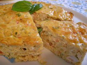 チュニジアオムレツ 意外?!にもチュニジアは料理が美味しく卵の料理がたくさん! 簡単に地中海の雰囲気が食卓で味わえます! imoko44 材料 (18cm ケーキ型1個) 玉ねぎ 1個 鶏ムネ肉 200g トマト 1個 卵 5個 チーズ(ピザ用チーズでゴーダが入ってるもの)100g パセリ 適量 パン粉 大1半 オリーブオイル 適量 塩 少々 こしょう 少々 ナツメグ 小2 作り方 1 鶏ムネ肉を2~3cm角に切る。 トマトは湯むきして1cm角に切る。 2 玉ねぎをみじん切りにしてオリーブオイルで炒める。 そこに鶏肉も加えて炒める。 3 2にトマトを加え中火で煮詰め 塩、こしょう、ナツメグを入れて味をつける。 4 ボールに卵、チーズ、パセリ、パン粉をいれ混ぜ合わせる。 5 3の荒熱がとれたら4にいれ混ぜ合わせる。 6 18cmのケーキの型の内側にバターを塗り、5を流しいれる。 180℃に余熱したオーブンで40分焼く。 コツ・ポイント 本来は鶏肉ではなくラム肉を使うんですが経済的に鶏肉のムネ肉で作ってみました。 淡白なムネ肉がオムレツだとくどくなく食べれました。…
