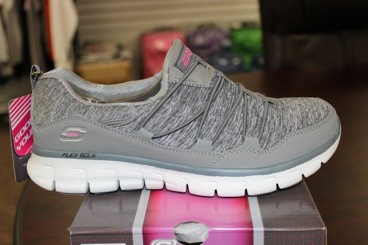 skechers shoes gray