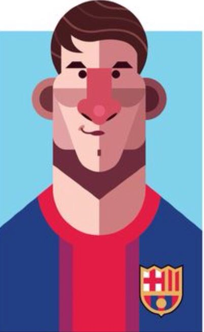 Lionel messi with cartoon