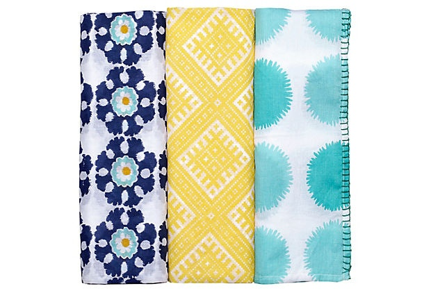 3-pc Chand Swaddle Wrap Set on OneKingsLane.com; also available at Masala Baby